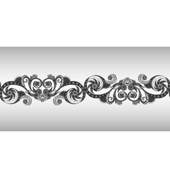 Seamless ribbon in the black and white vector image
