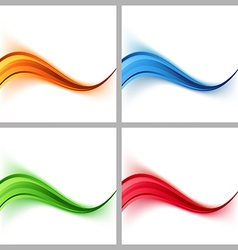 Wave border colorful certificate cards collection vector