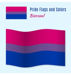 Bisexual pride flag with correct color scheme vector