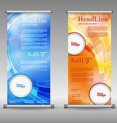 Mega collection of roll up banner design vector