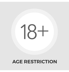 Age restriction flat icon vector
