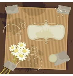 Diary Background vector image