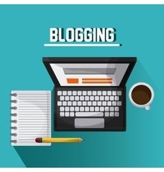 Blogging design Media icon Colorful vector image