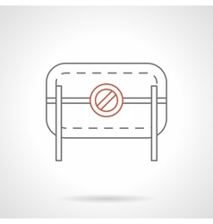 Prohibition road barrier flat line icon vector