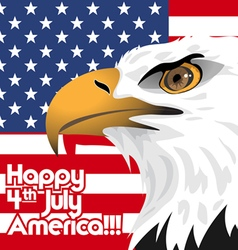 Happy fourth of july america independence day vector