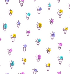 Light bulbs seamless pattern vector image