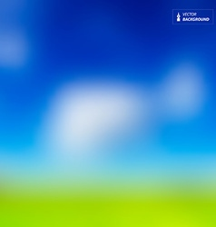 Abstract Background - Blurred Sky with Clouds and vector image