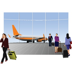 airport graphic vector image vector image