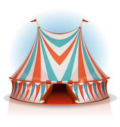 Big top circus tent vector