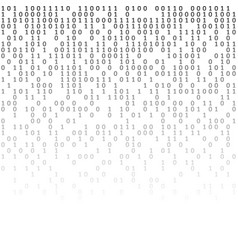 Binary code black and white background with digits vector