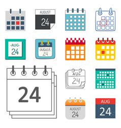 Calendar web icons office organizer vector