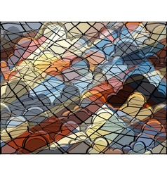 Cloud mosaic vector image