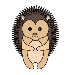 Cute and tender porcupine vector