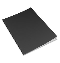 Empty black book template vector