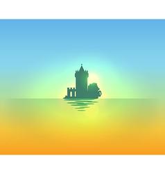 Evening nautical landscape vector image