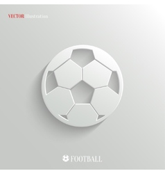 Football icon - white app button vector image