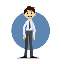 funny cartoon businessman portrait vector image