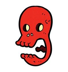 Funny comic cartoon skull vector