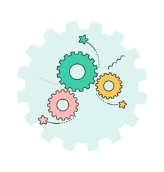 gear and ideas vector image vector image