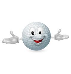 golf ball mascot vector image vector image