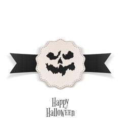 Happy halloween banner with ribbon template vector