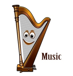 Happy harp in a music concept vector image