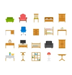 Home and office furniture interiors vector image vector image