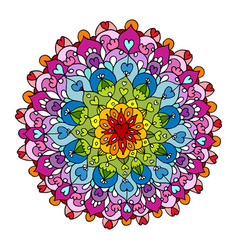 Mandala ornament colorful pattern for your design vector