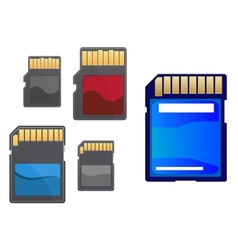 Multimedia and memory cards set vector