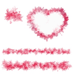 Sample abstract heart and lines vector image vector image