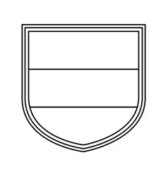 shield with germany flag icon vector image