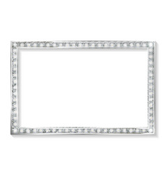 silver frame cinema on a white background vector image vector image