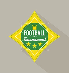 Soccer or football tournament badge vector