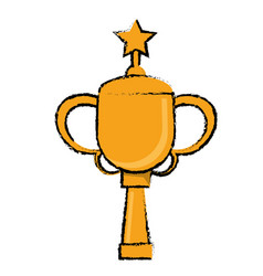 Star award cup sport win vector