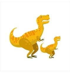 Tirannosaurus rex dinosaur prehistoric monster vector