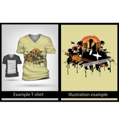 Example on t-shirt vector