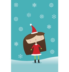 Winter Holiday Girl vector image