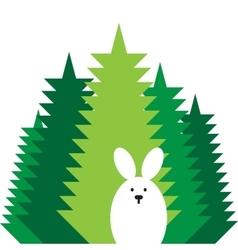 rabbit flat icon vector image