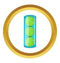 Packaging of tennis balls icon vector