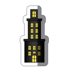 Sticker apartment residence with several floors vector