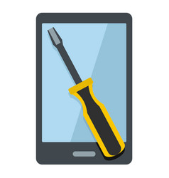 Renovation phone icon isolated vector