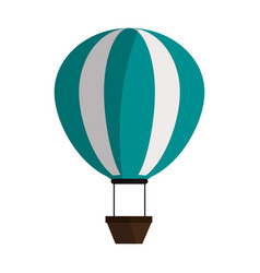 Hot air balloon icon image vector