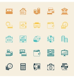 Set of business and banking icons vector