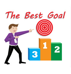 best goal concep vector image