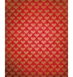 red heart background vector image