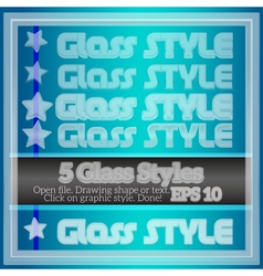 Set of various transparent glass graphic styles vector