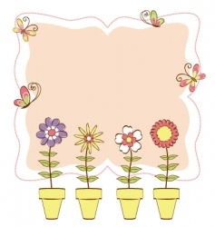 floral and butterfly vector image