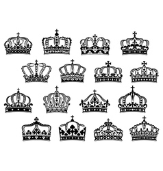 Royal or imperial crowns set vector