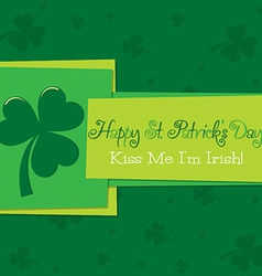 Funky st patricks day card in format vector