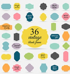 Paper vintage texture collection blank frames and vector